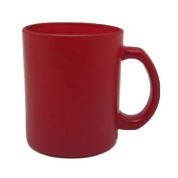 Personalised Matte Colour Change Glass Mug - Red